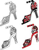 Shoes set vector illustration Stock Image