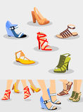 Shoes Set Stock Images