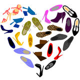 Shoes in shape of heart Royalty Free Stock Photography