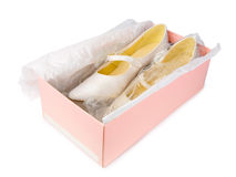 Shoes in shoe box Royalty Free Stock Photography