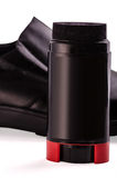 Shoes and shoe cream Stock Image