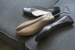 Shoes with shoe stretcher Royalty Free Stock Image