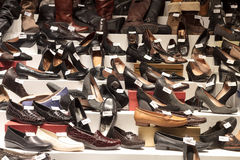 Shoes in the shop Royalty Free Stock Photo