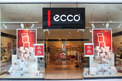 Shoes shop. Ecco in Afi Palace Cotroceni mall Royalty Free Stock Photos