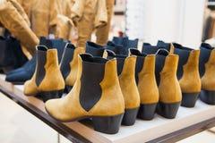 Shoes at shop Royalty Free Stock Image