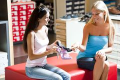 Shoes shopping Royalty Free Stock Images