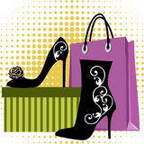 Shoes shopping Royalty Free Stock Photography