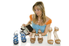 Shoes shopping Royalty Free Stock Photos
