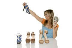 Shoes shopping Stock Image