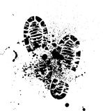 Shoes silhouette background Royalty Free Stock Photo