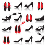 Shoes silhouette collection Stock Image