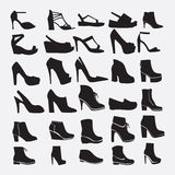 Shoes silhouettes - Illustration Stock Photos