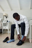 Shoes and socks business man Royalty Free Stock Photos