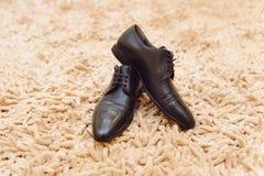 Shoes on Soft Carpet Stock Photo