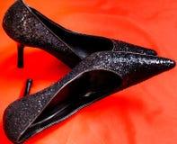 shoes sparkly Royaltyfri Bild