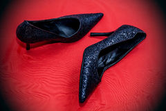shoes sparkly Royaltyfri Foto