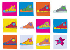 shoes sporten royaltyfri illustrationer