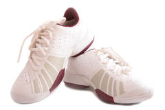 shoes sportwhite royaltyfria bilder