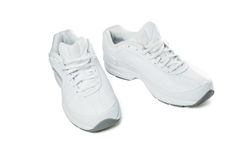 shoes sportwhite Arkivbilder