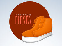 Shoes sticker, tag or label. Royalty Free Stock Image