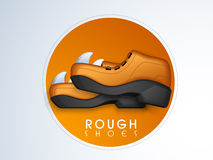Shoes sticker, tag or label with text. Royalty Free Stock Photos