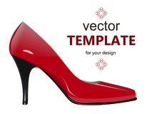 Shoes with stiletto heel isolated on white background. Vector illustration Royalty Free Stock Photography