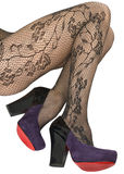 Shoes and stockings, pantyhose. Royalty Free Stock Image