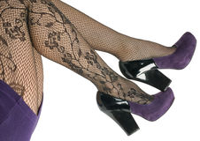 Shoes and stockings, pantyhose. Stock Photo