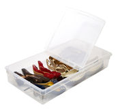 Shoes storage tub container Royalty Free Stock Image