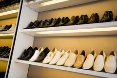 Shoes store Stock Photography