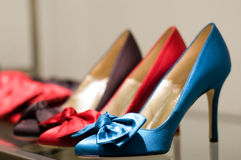 Shoes on the store Royalty Free Stock Image