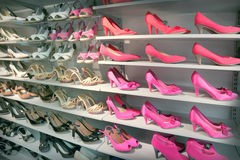 Shoes in store Stock Images