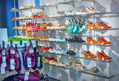 Shoes in store Royalty Free Stock Photography