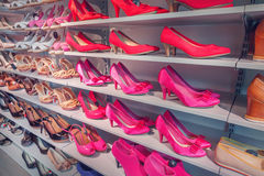 Shoes in store Royalty Free Stock Images