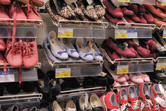 Shelves With Shoes In Supermarket Stock Photo, Picture And Royalty