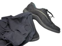 Shoes and T-shirt. Sport shoes and T-shirt over-white Royalty Free Stock Photo