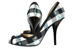 shoes textilen Arkivbild