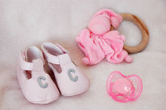 Shoes and toys 2 Royalty Free Stock Photography