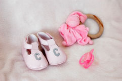 Shoes and toys 3 Stock Image