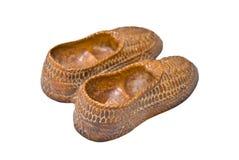 shoes trä Arkivfoton