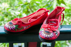 Shoes of the traditional Chinese theater Royalty Free Stock Images
