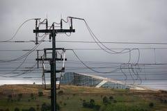 Electric conexions train. Stock Photo