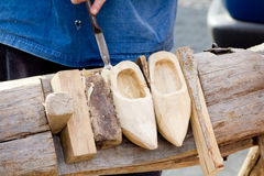 Shoes Traditional skill of making Dutch Stock Photo