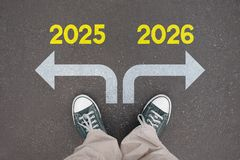 Shoes, trainers - 2025, 2026 stock image