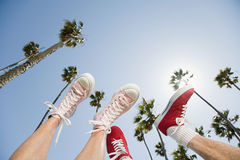 Shoes of two people Royalty Free Stock Image