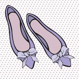 Shoes. Vector elements for design. Purple shoes. Vector elements for your design Royalty Free Stock Photo