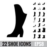 Shoes vector icon set Stock Photography