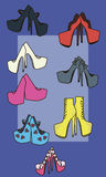 Shoes vector illustration Stock Image