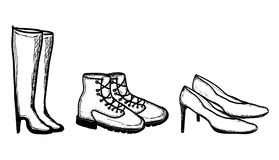 Shoes - vector illustration Stock Photos