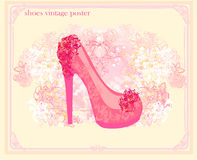 Shoes vintage poster Royalty Free Stock Photography